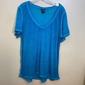 Torrid Burnout Short Sleeve Top Size 1X